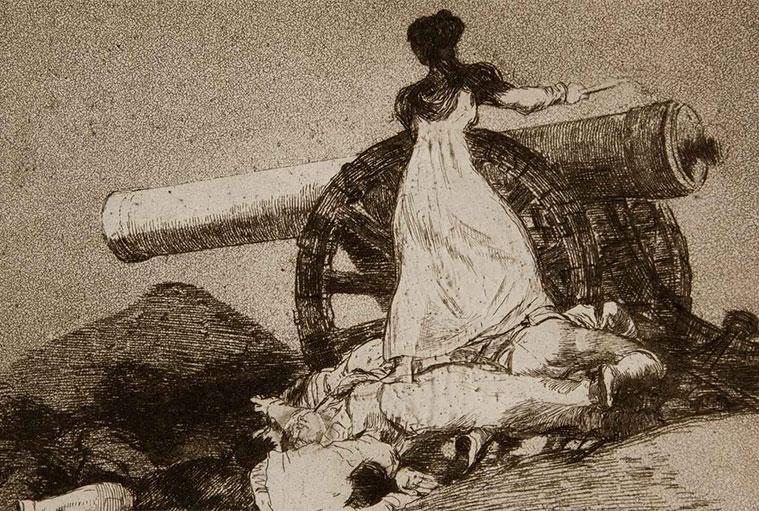 """Que valor!. Grabado de la serie """"Desastres de la Guerra"""", elaborado entre 1810 y 1814"""