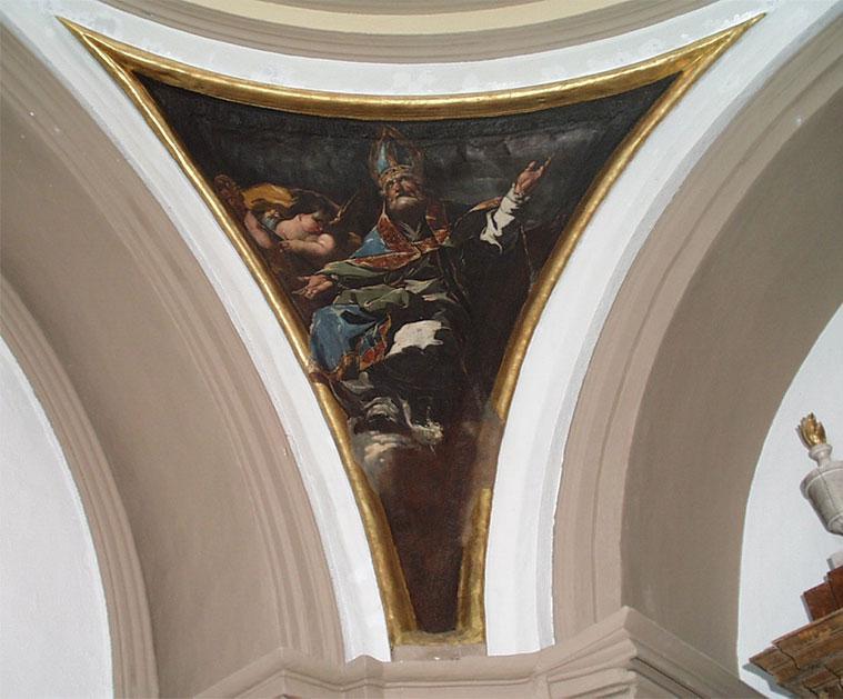 San Agustín pintado por Francisco de Goya en la ermita Virgen de la Fuente de Muel