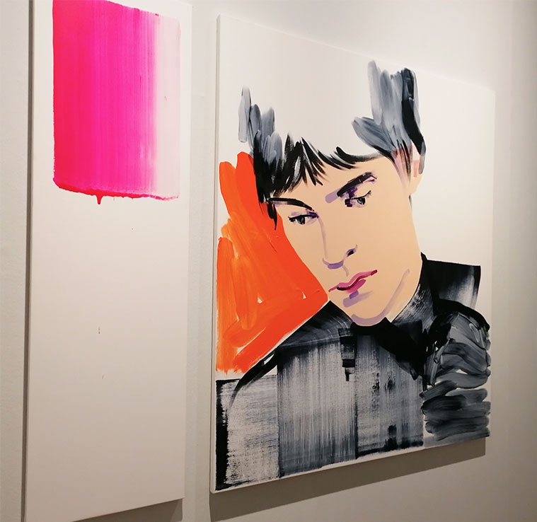 pintura de Lorena Domingo en el Premio Santa Isabel