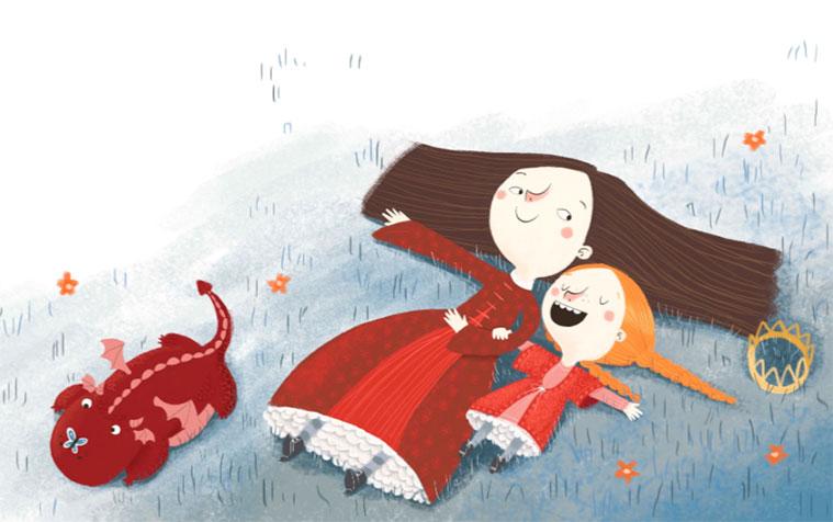 Ilustración de Mamen Marcén para el álbum de Anita de Arbués 'Yo no quiero ser princesa'