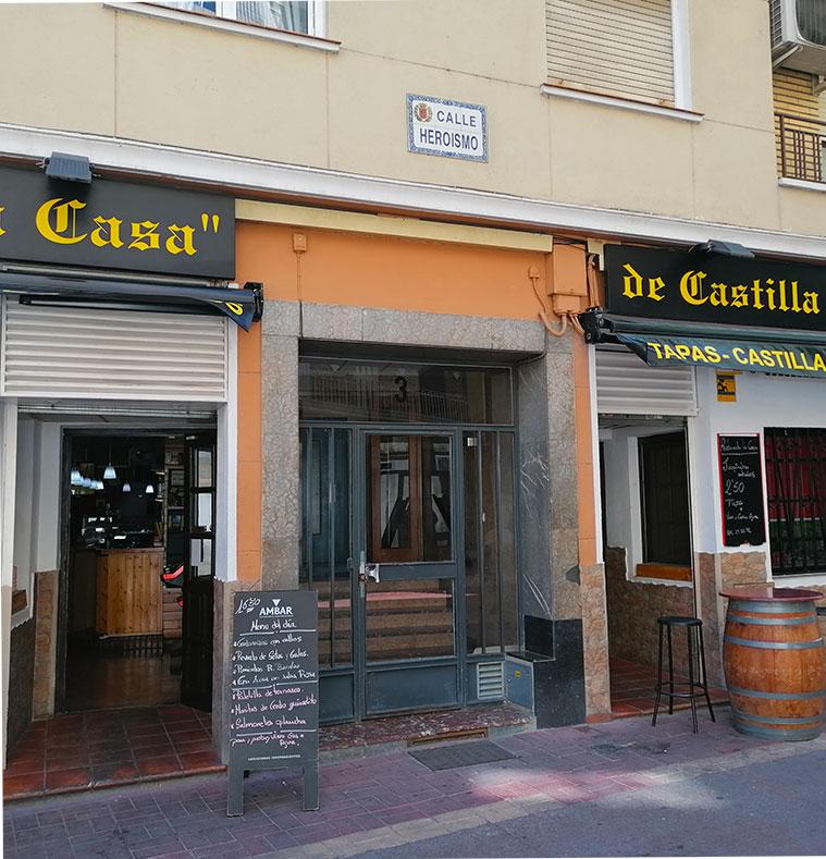 Zona donde se encontraba la Casa de Goya en la Calle Heroísmo, 3