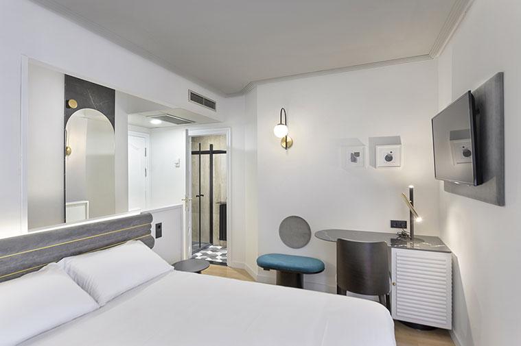 habitacion doble del hotel boutique inca de zaragoza