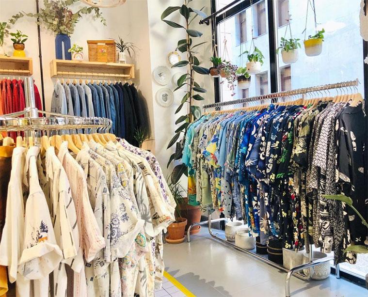 zona de moda vintage en la tienda de horst