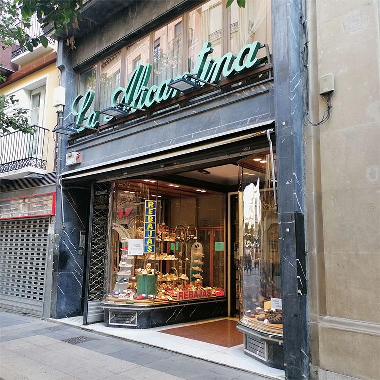 Calzados La Alicantina en la Calle Don Jaime de Zaragoza