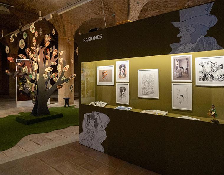 Exposición 'El cómic y Goya. Una muestra de veneración' en los antiguos depositos de pignatelli