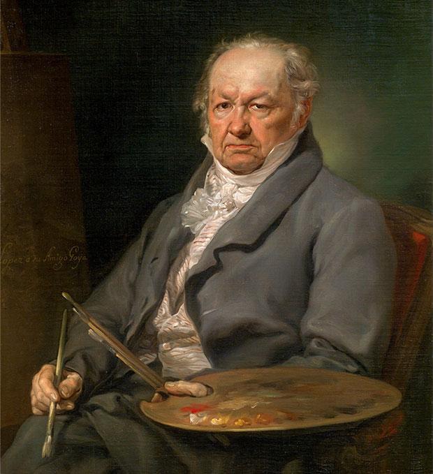 Retrato del pintor Francisco de Goya, de Vicente López