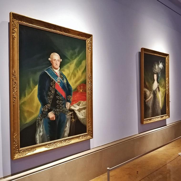 Retratos de Carlos IV y María Luisa de Parma en el Museo de Zaragoza