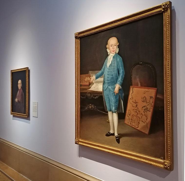 el retrato del infante Don Luis María de Borbón y Vallabriga en el Museo de Zaragoza