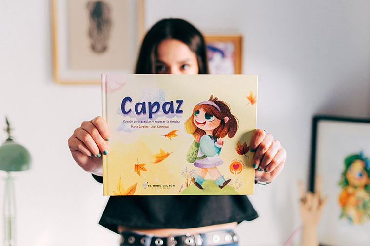 """El libro para niños """"Capaz"""". Cuento para superar la timidez"""" es una una colaboración entre la escritora Marta Cardona y la ilustradora Jess Sanmiguel"""