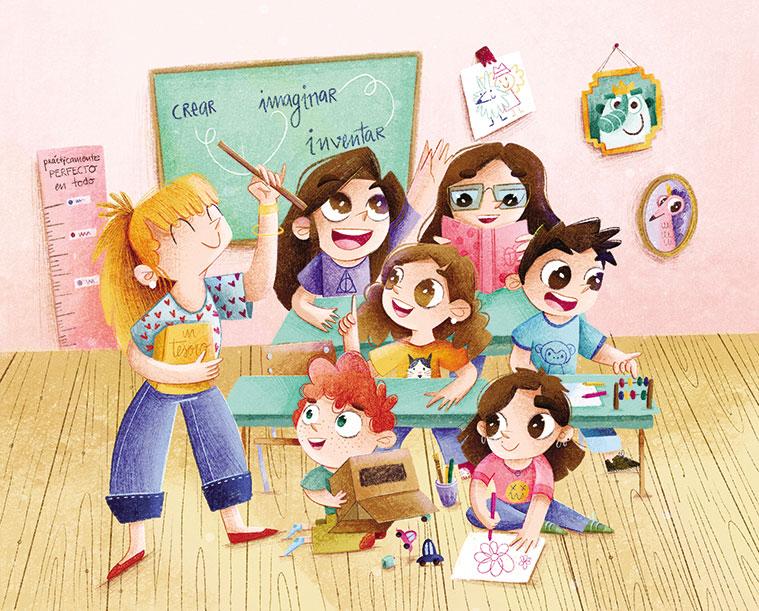 Ilustración de Jessica Sanmiguel para uno de sus cuentos infantiles