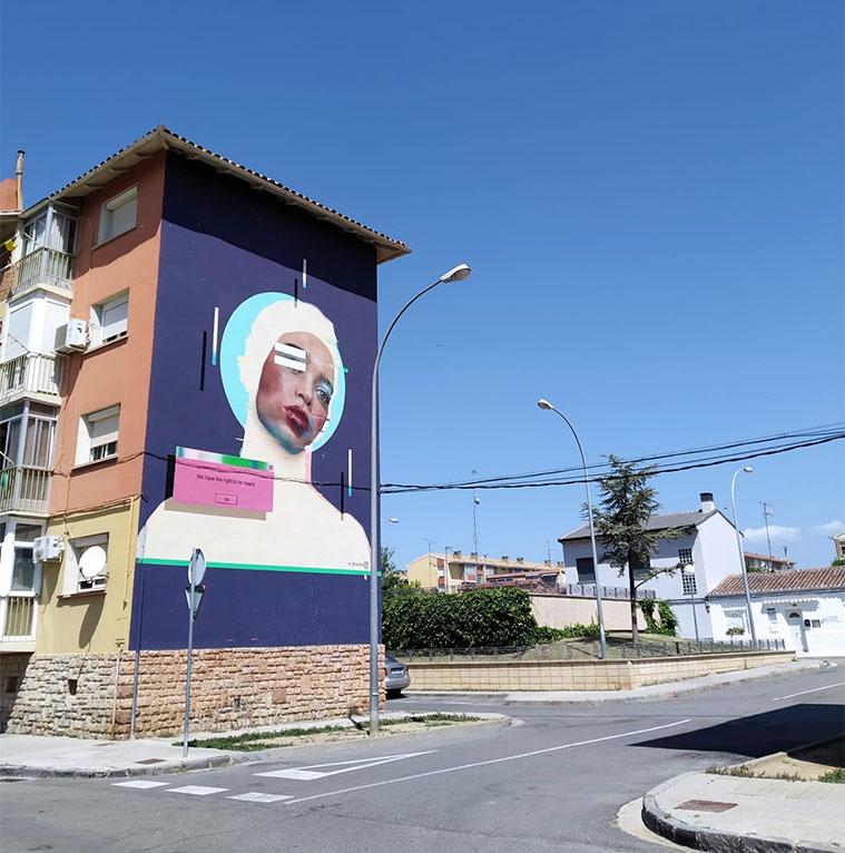 Escapada para visitar las intervenciones artísticas de la iniciativa 'Barrioh!' en el barrio del Perpetuo Socorro de Huesca