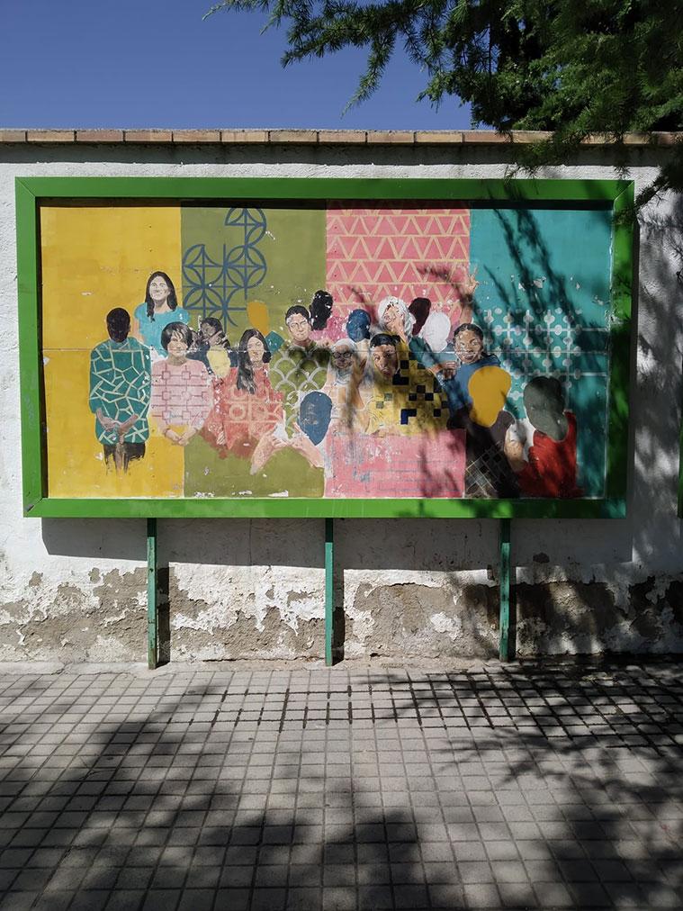 Intervención de Javier Aquilué en la calle Valencia esquina con la calle Pío XII