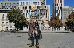 exposición Figuras deGoya en las calles de zaragoza
