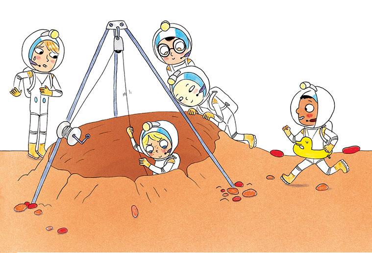 """""""Demain on part su Mars"""", una obra en la que se explica a los niños un montón de cosas sobre la aventura espacial"""