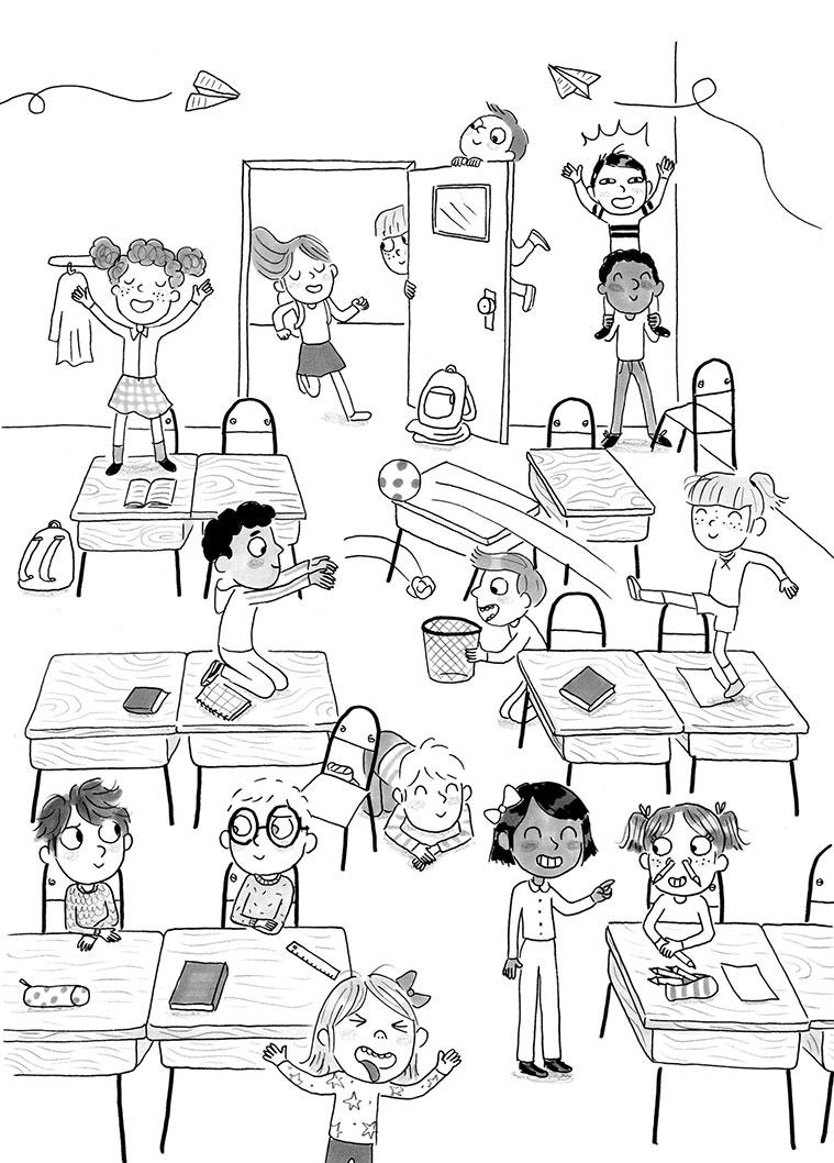 """La serie de libros """"Cole de Locos"""" es una colaboración entre el escritor Dashiel Fernández y la ilustradora Candela Ferrández"""