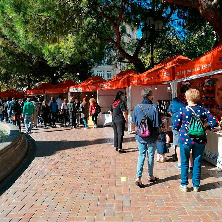 La Muestra de Artesanía y Agroalimentaria Aragonesa de la Plaza de los Sitios
