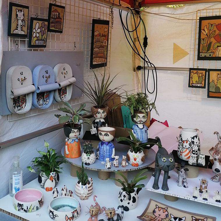 Puesto de Artesa en la Muestra de Artesanía y Alimentaria Aragonesa de las Fiestas del Pilar